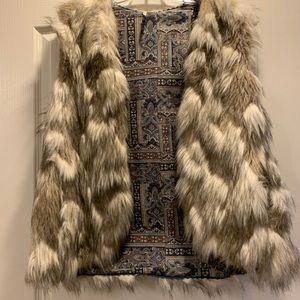 Free people faux fur vest